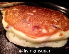 Mascarpone Pancakes cooking