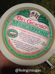 Marscapone cheese for Mascarpone Pancakes